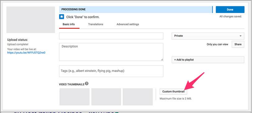 Pozycjonowanie filmow youtube dodawanie niestandardowych miniatur wideo