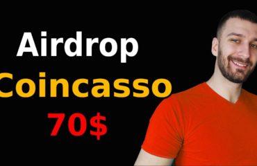 Airdrop 70 dolarów od Coincasso za Darmo